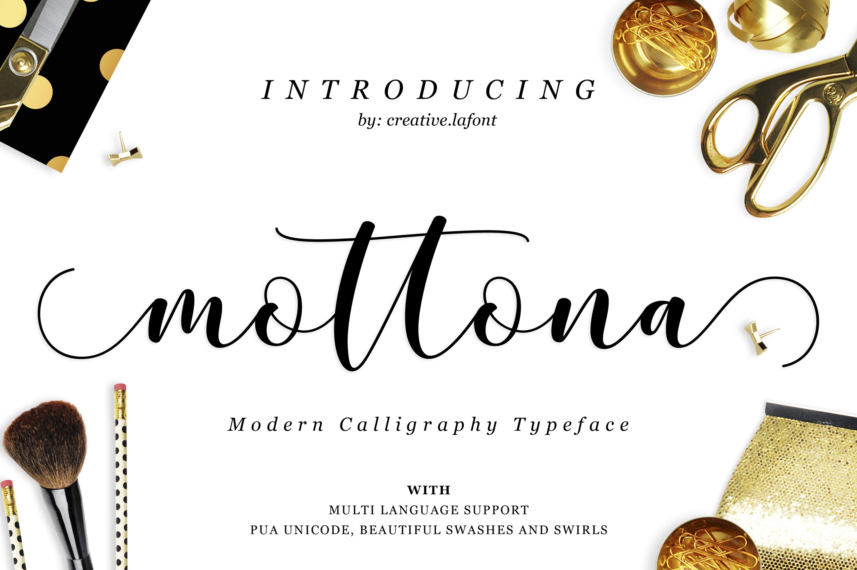 Mottona Script example image 1