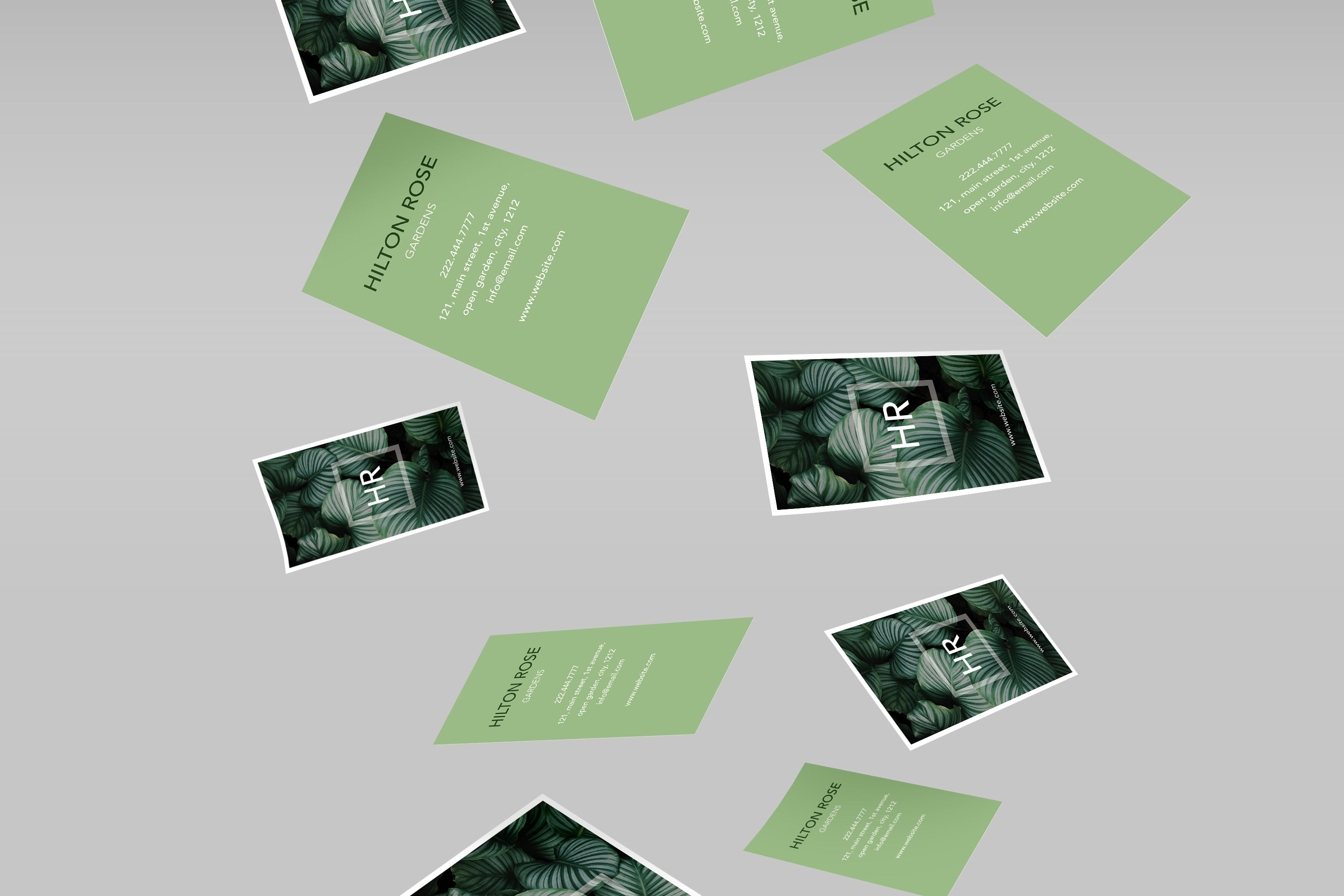 Green nature classy business card by Cr | Design Bundles