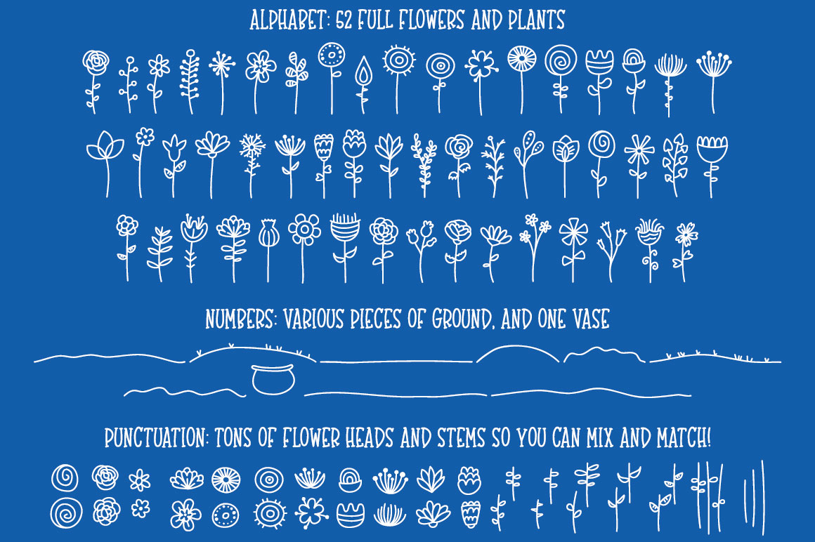 Bloomdings: abstract floral dingbats! example image 2