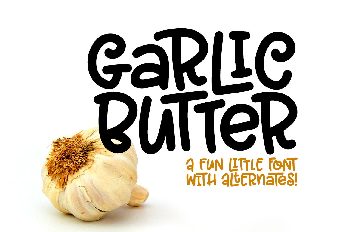 Garlic Butter: a tasty fun font! example image 1