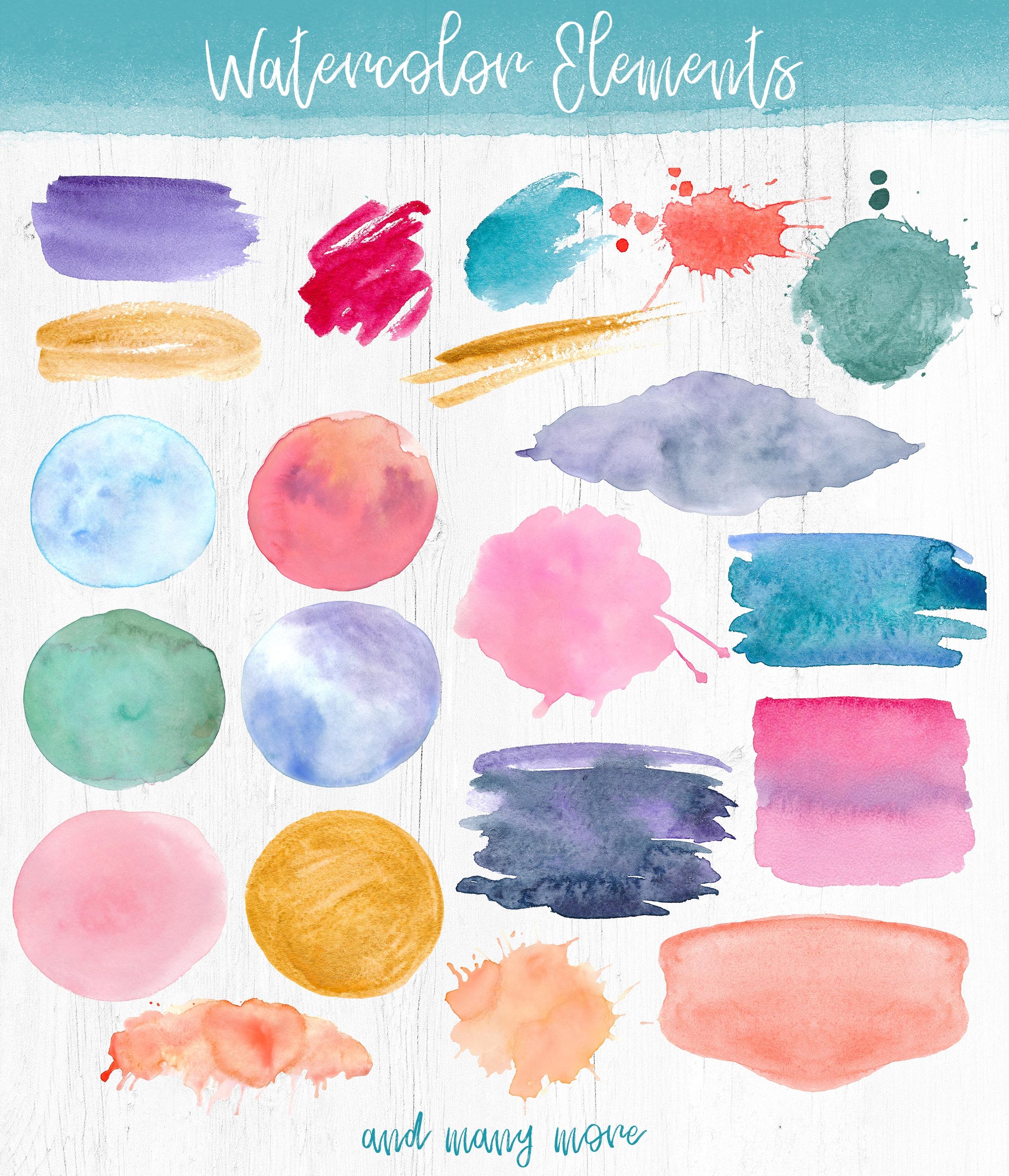 Watercolor Pack. Textures and Logos example image 4