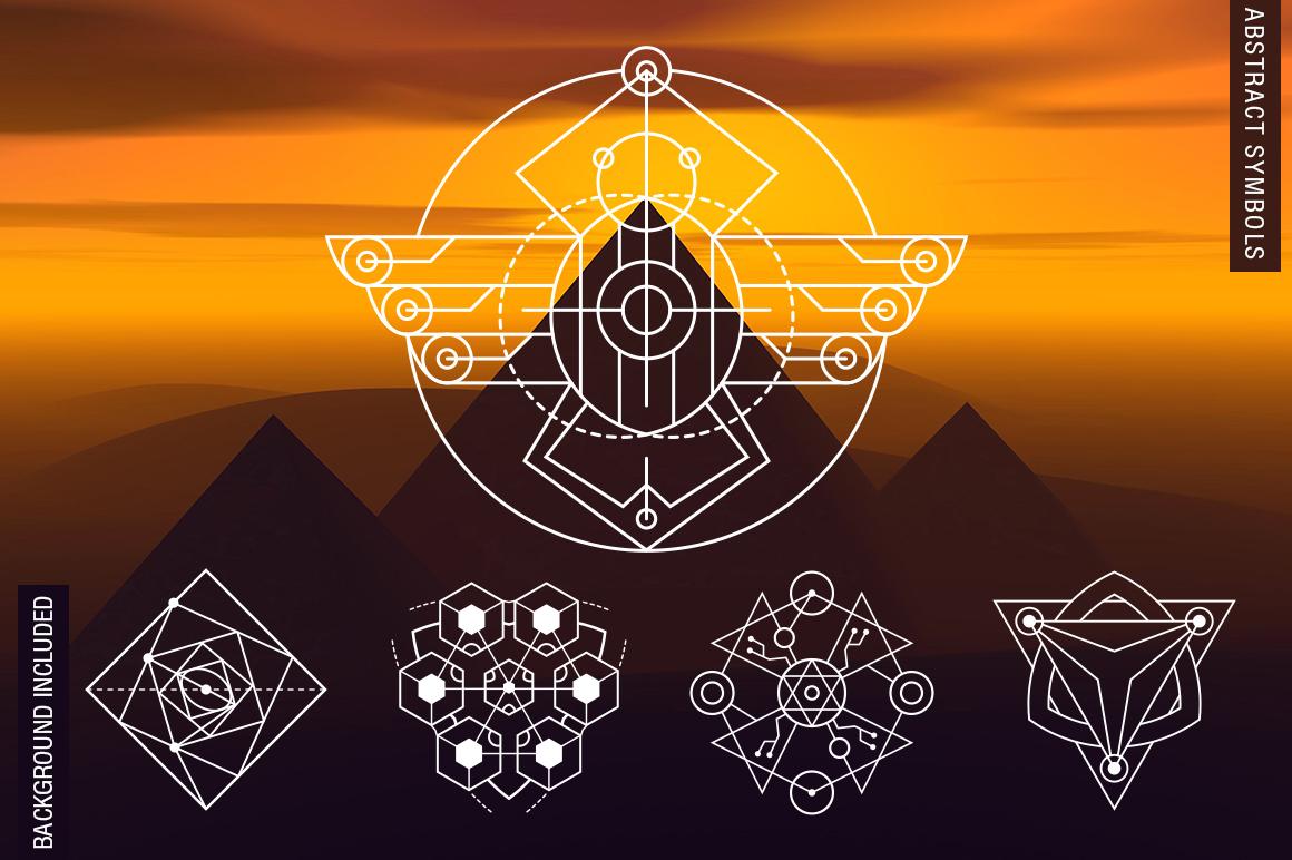 100 Sacred Geometry Symbols  example image 3