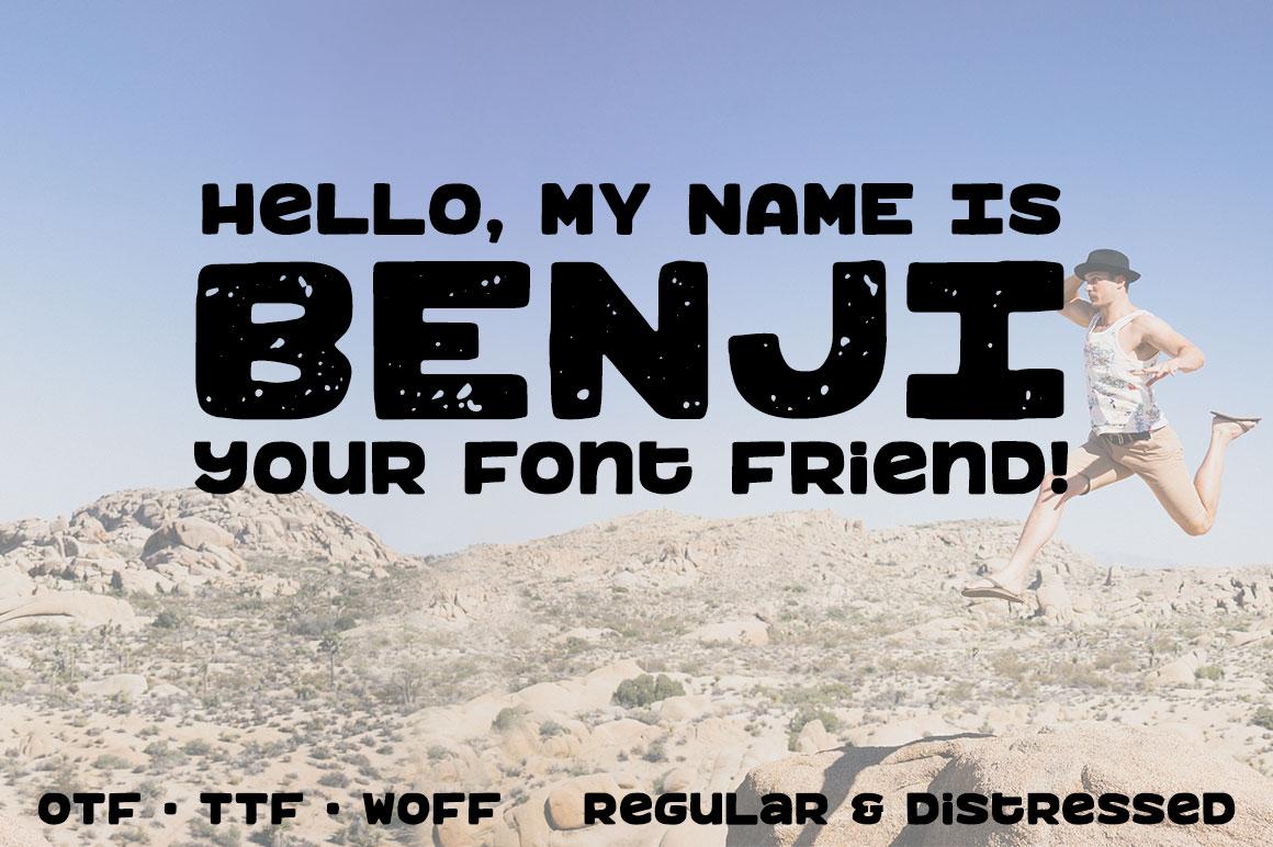 Benji: a bold, fun monospace font! example image 1