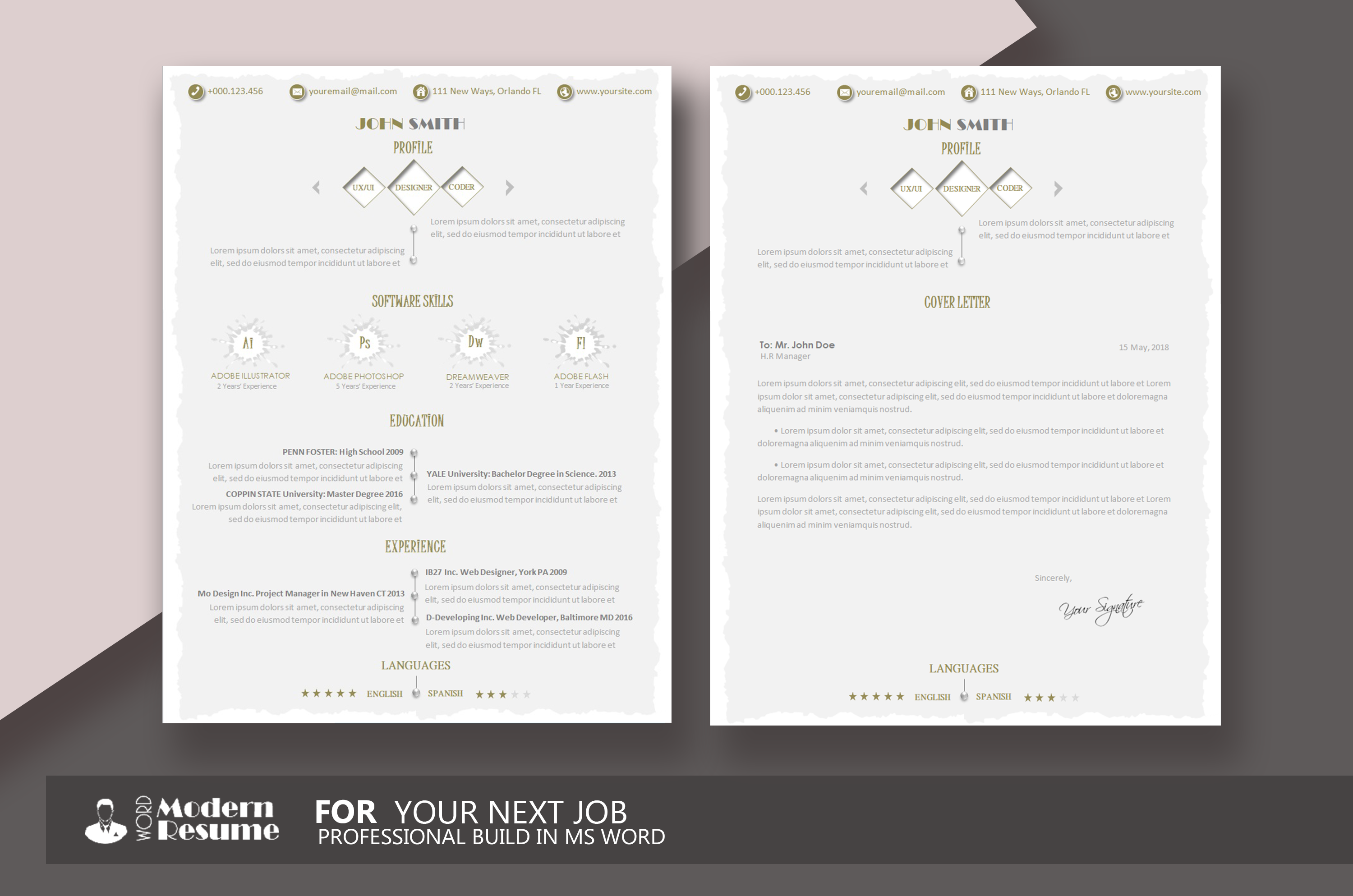 Your  Resume Template  Update Resu  Design Bundles