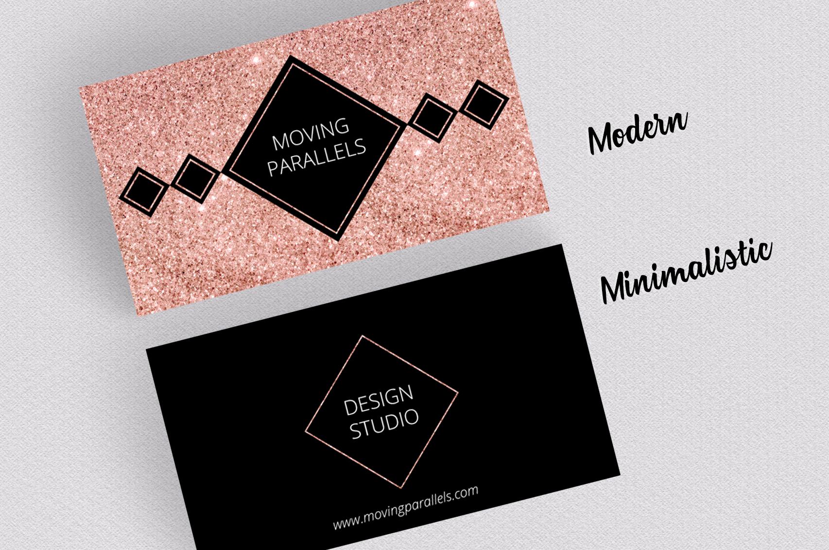 Rose Gold Foil Marble Business Card by   Design Bundles