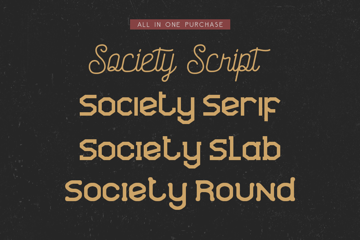 Society Typeface - 4th Font! example image 2
