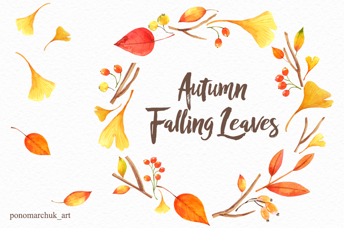 Autumn falling leaves example image 8