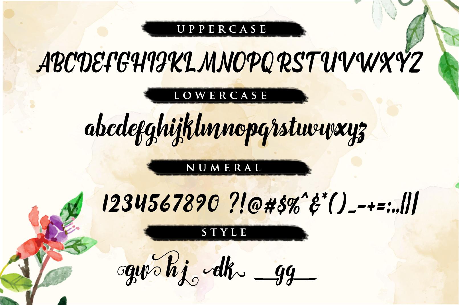 Marchelina Script example image 3