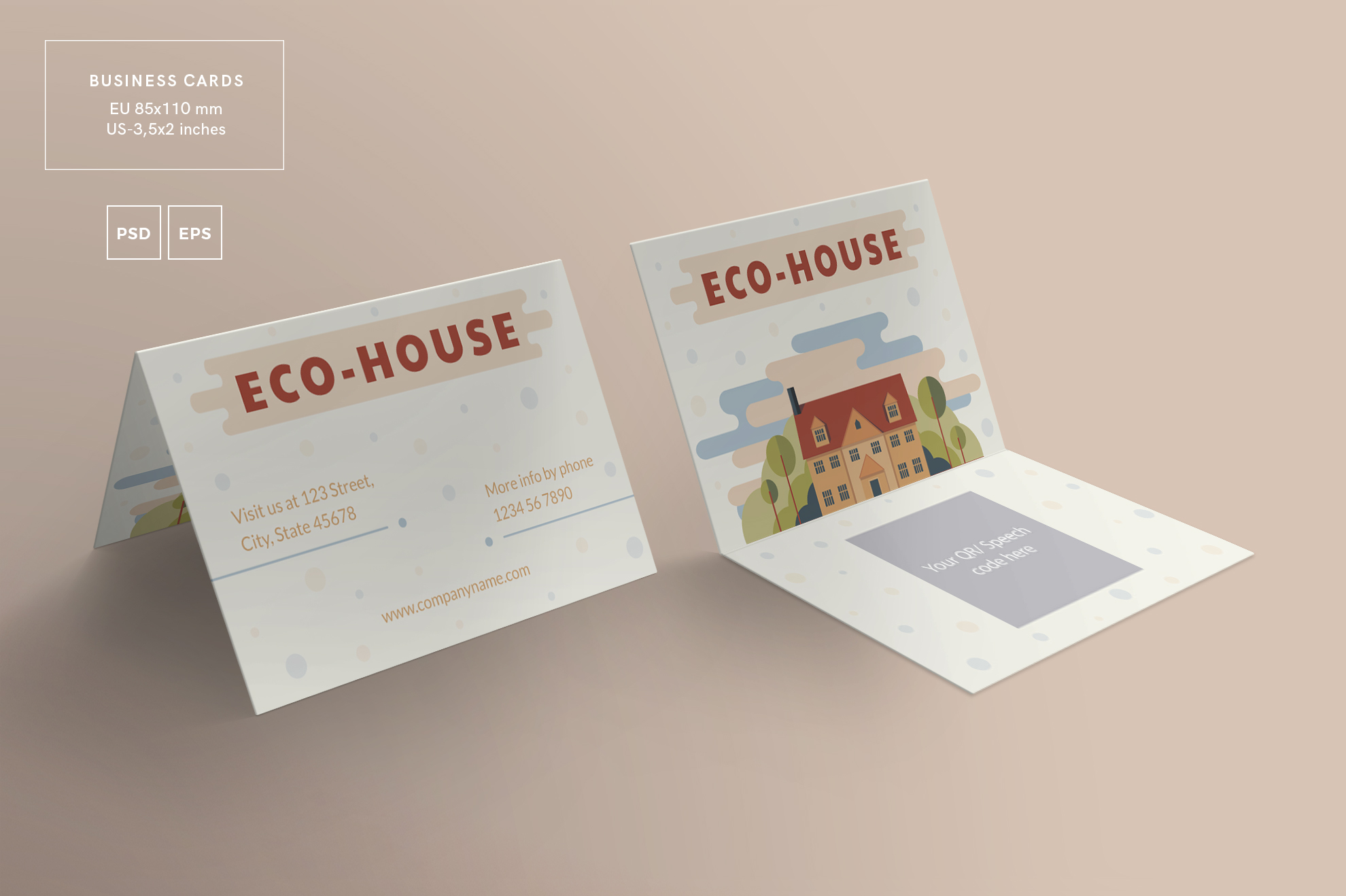 Eco house business card design template design bundles eco house business card design templates kit example image 3 colourmoves