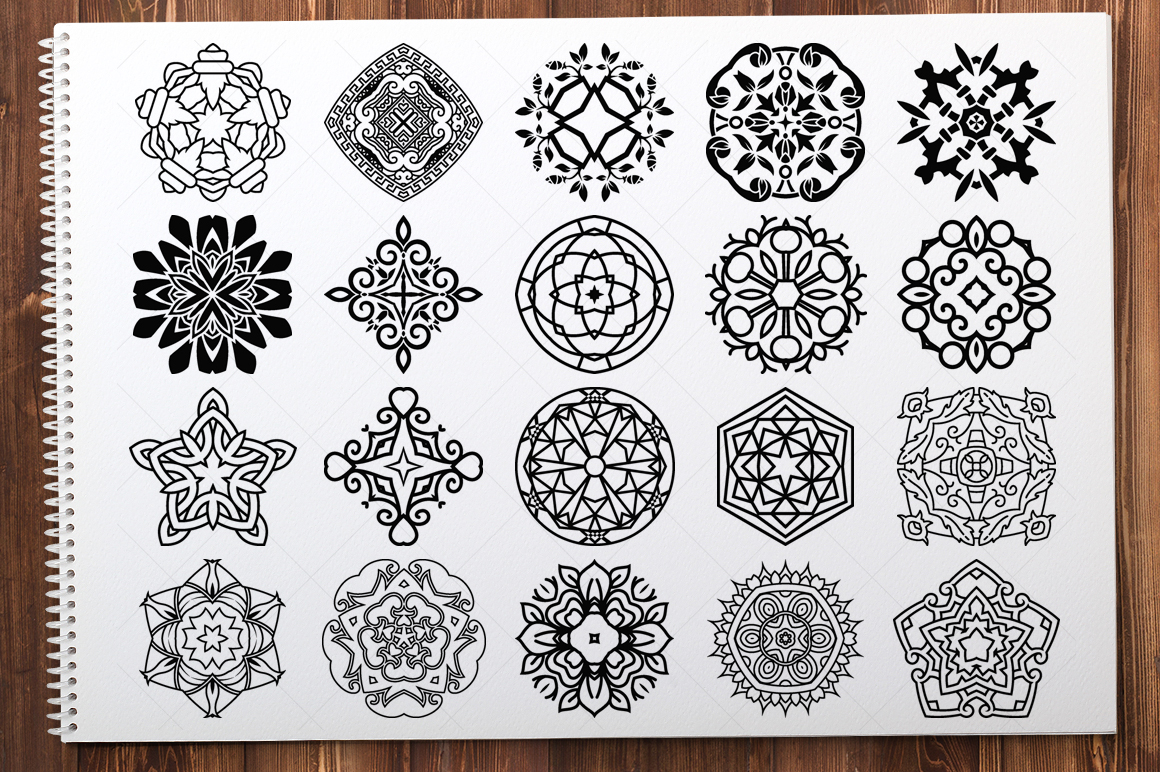 500 Vector Mandala Ornaments example image 26