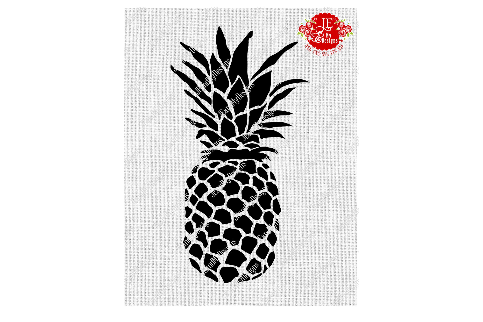 Golden Pineapple SVG, JPEG, PNG, EPS, DXF example image 2