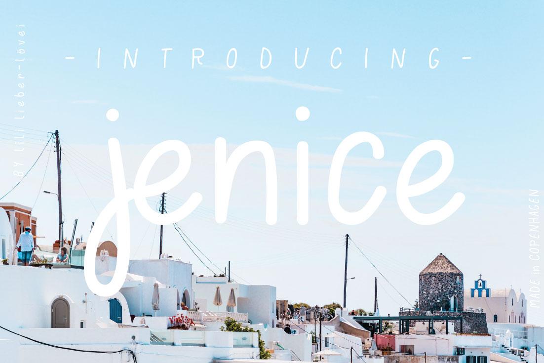 jenice | handwritten example image 1