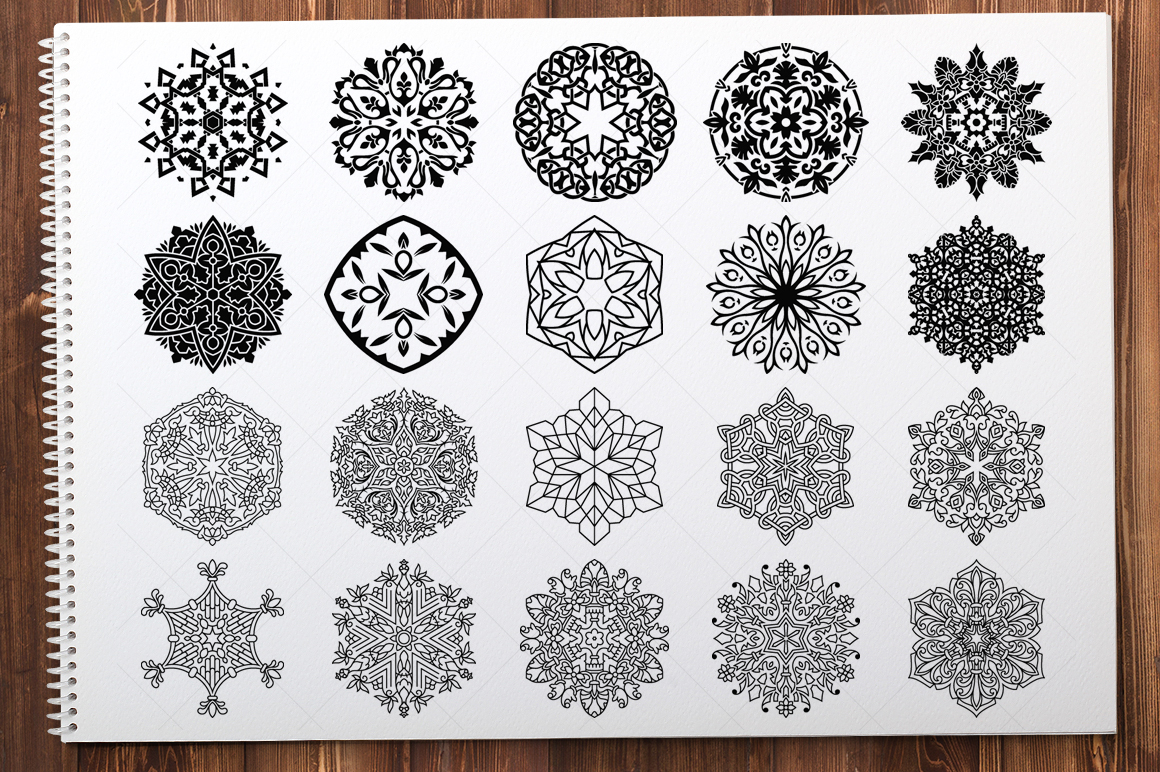500 Vector Mandala Ornaments example image 16