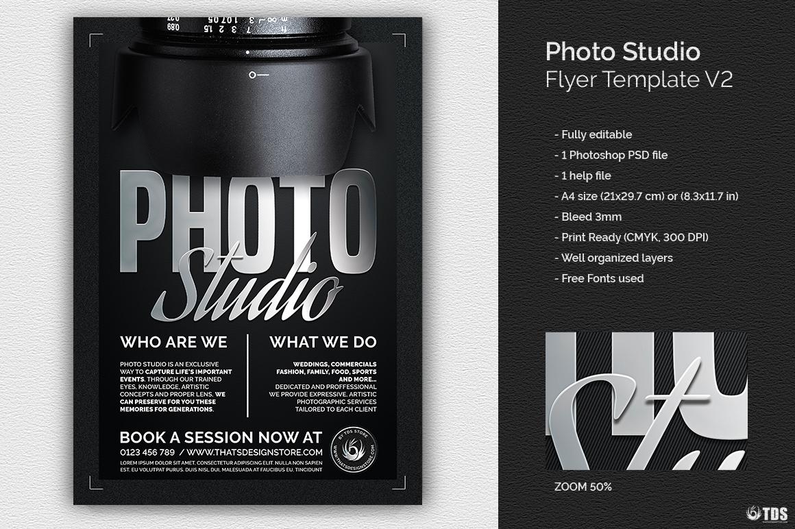Photo Studio Flyer Template V2 example image 2