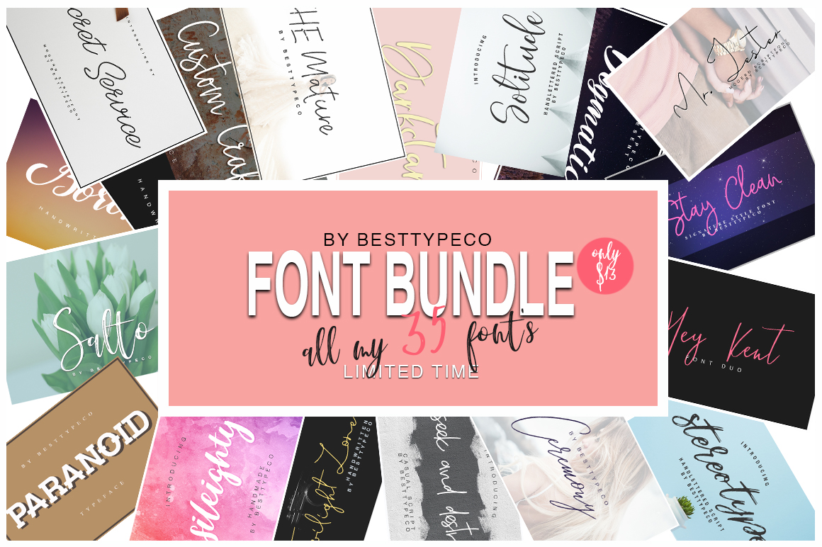 35in1 Font Bundle by BESTTYPECO example image 1