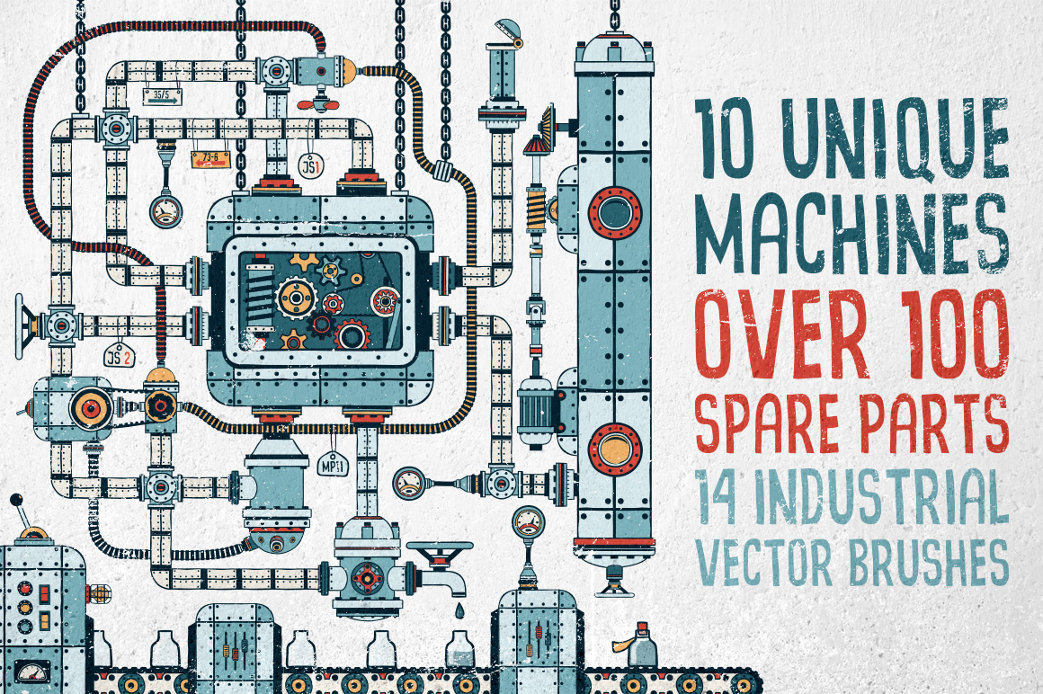 Fantastic Machines Construction Kit example image 3