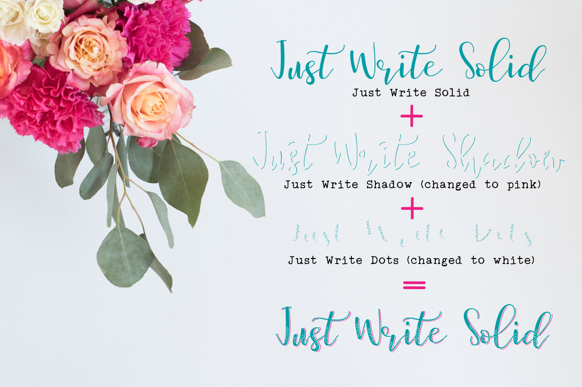 Just Write layered font example image 9