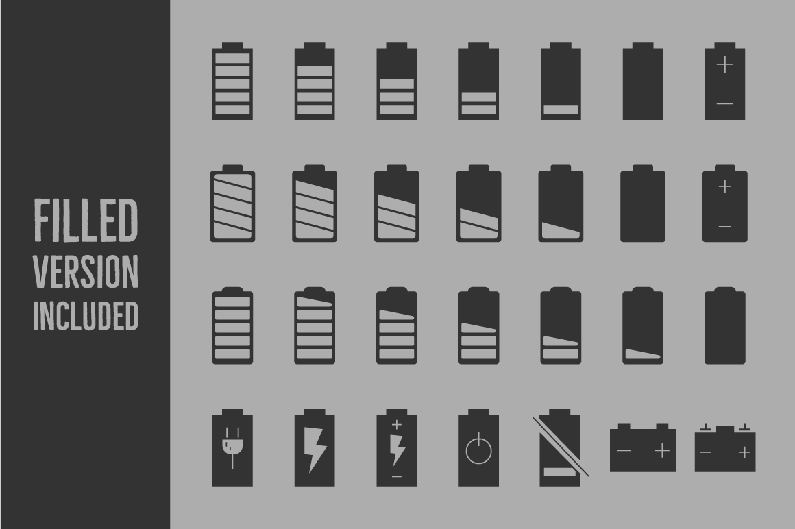 Battery Level Icons example image 3