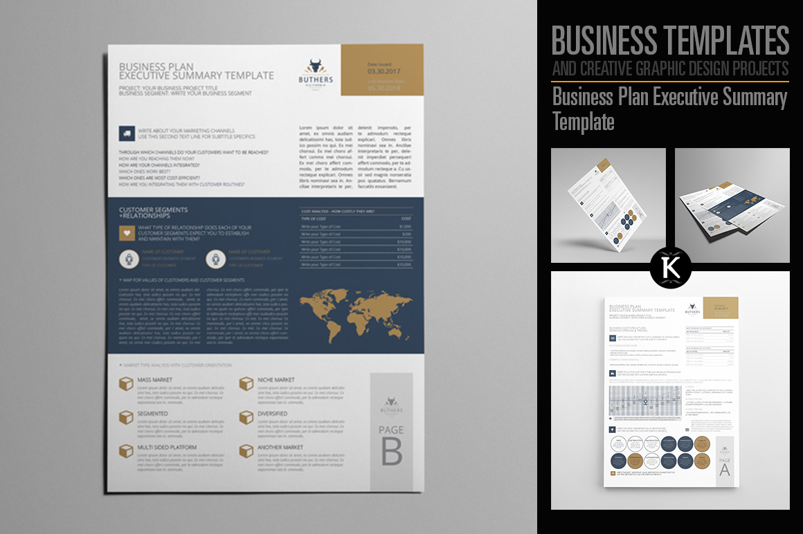 Business plan executive summary templat design bundles business plan executive summary template example image 1 flashek Choice Image