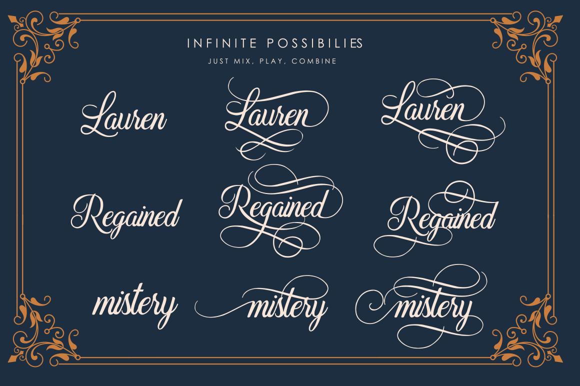 Beradon Script - Elegant Wedding font example image 4