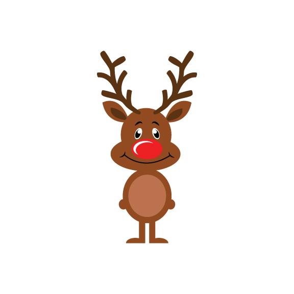 rudolph instant download reindeer vecto design bundles rh designbundles net reindeer vector png reindeer vector png