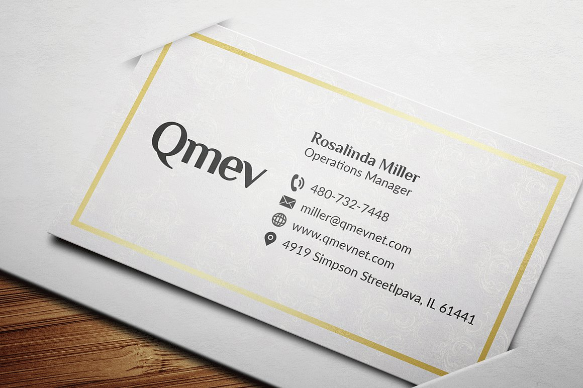 Gold and Black Business Card 2 example image 4