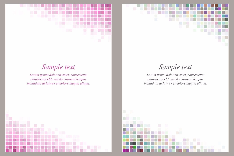 40 square mosaic page templates (AI, EPS, JPG 5000x5000) example image 2