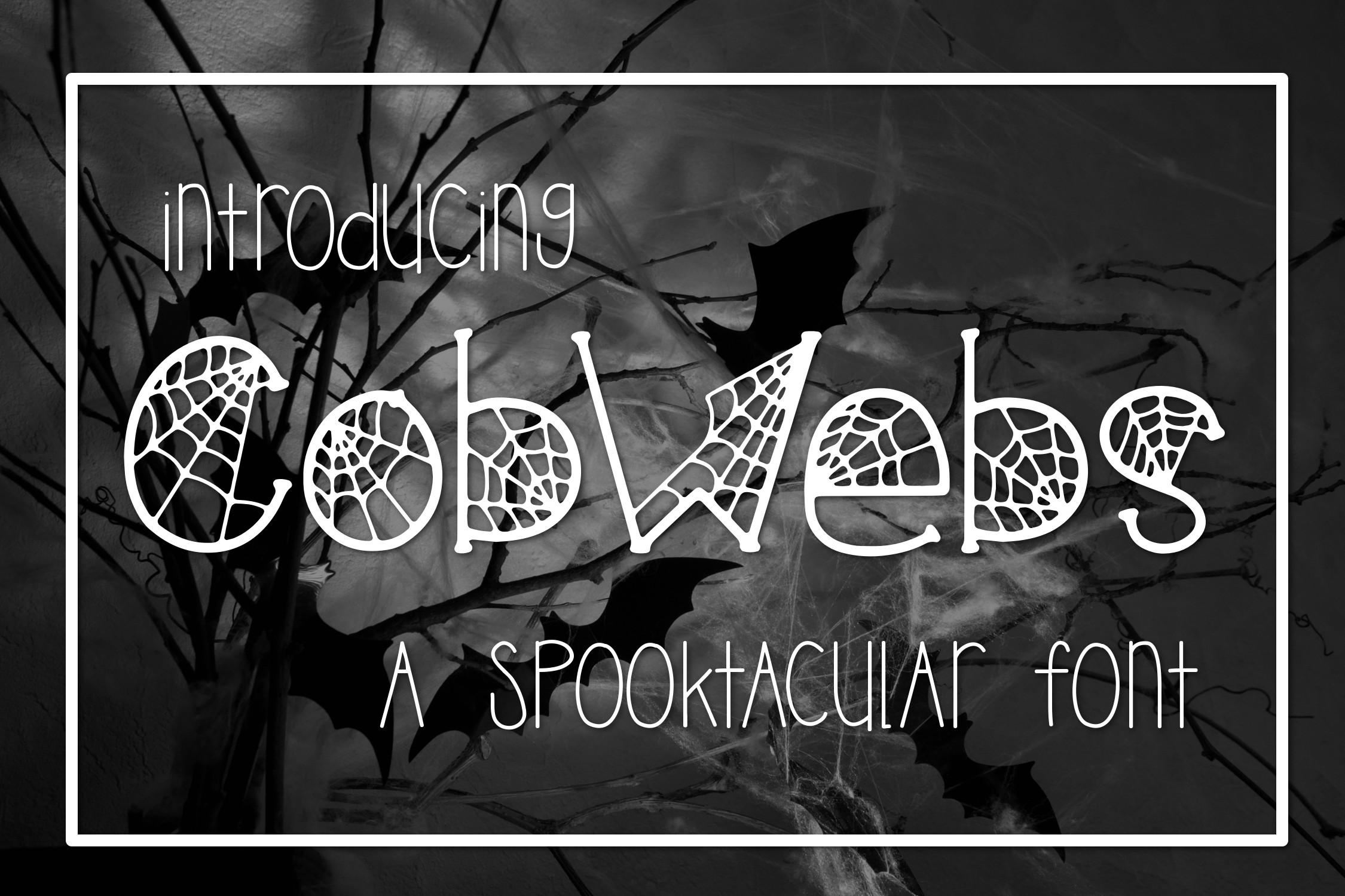 Cobwebs a Spooktacular Font example image 1