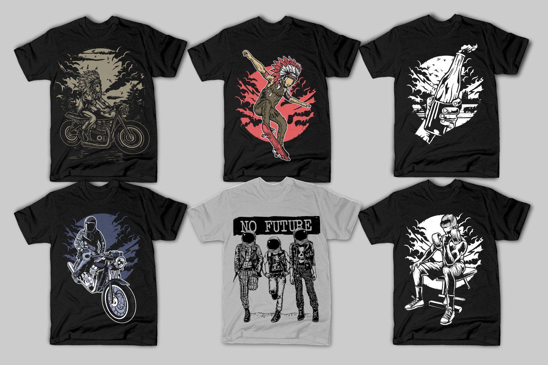 42 Tshirt Designs Bundle example image 6