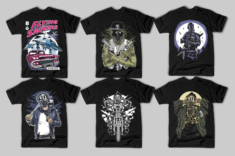 42 Tshirt Designs Bundle example image 7