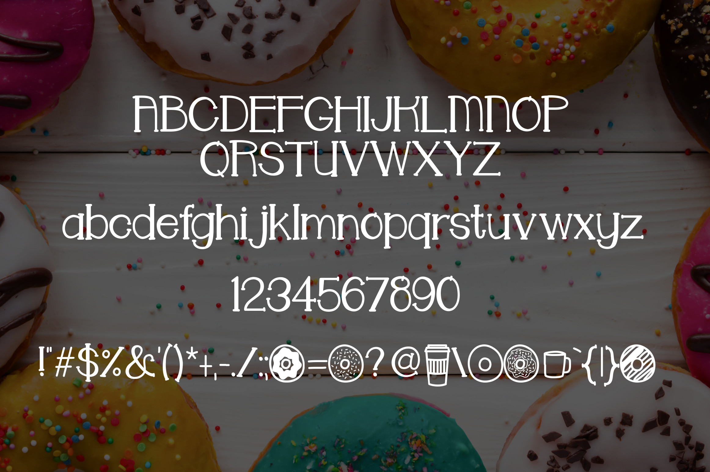 Donut Shoppe a Sweet Font example image 2