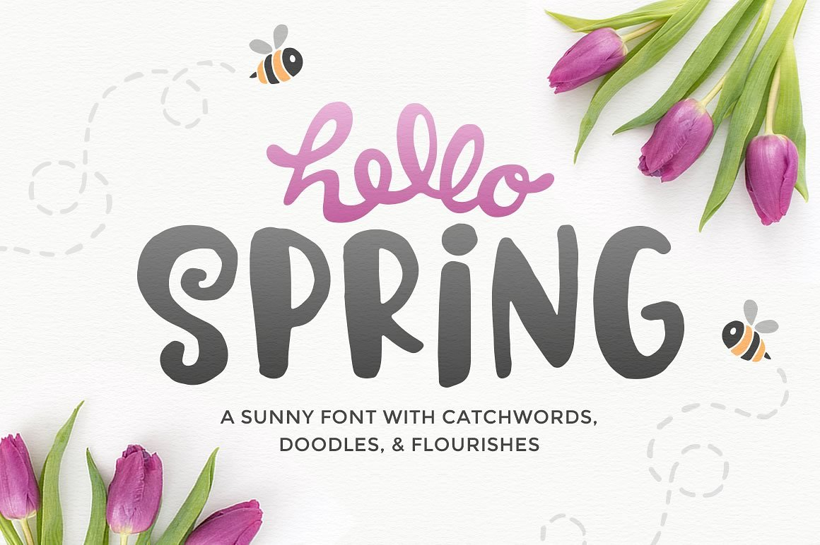 Hello Spring Font example image 1