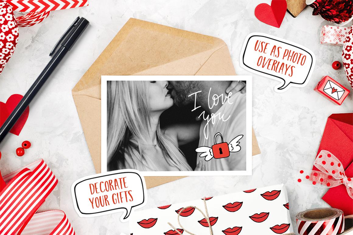Happy Valentine graphic set example image 7
