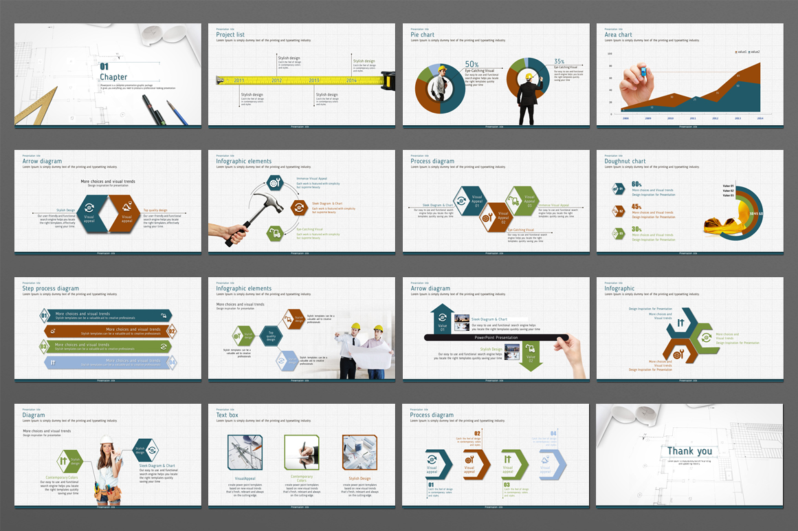 Blueprint powerpoint template by goodpe design bundles blueprint powerpoint template example image 4 malvernweather Images