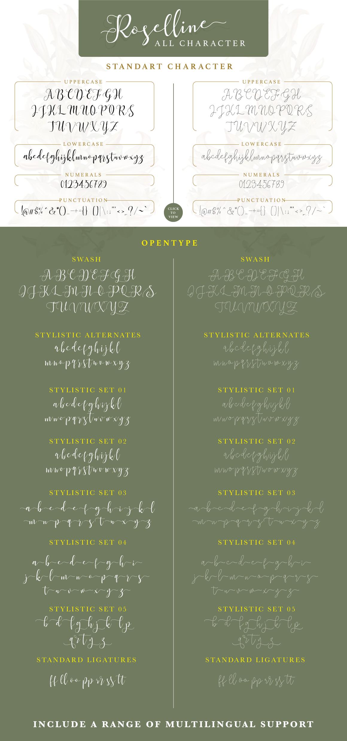 Roselline Typeface example image 5