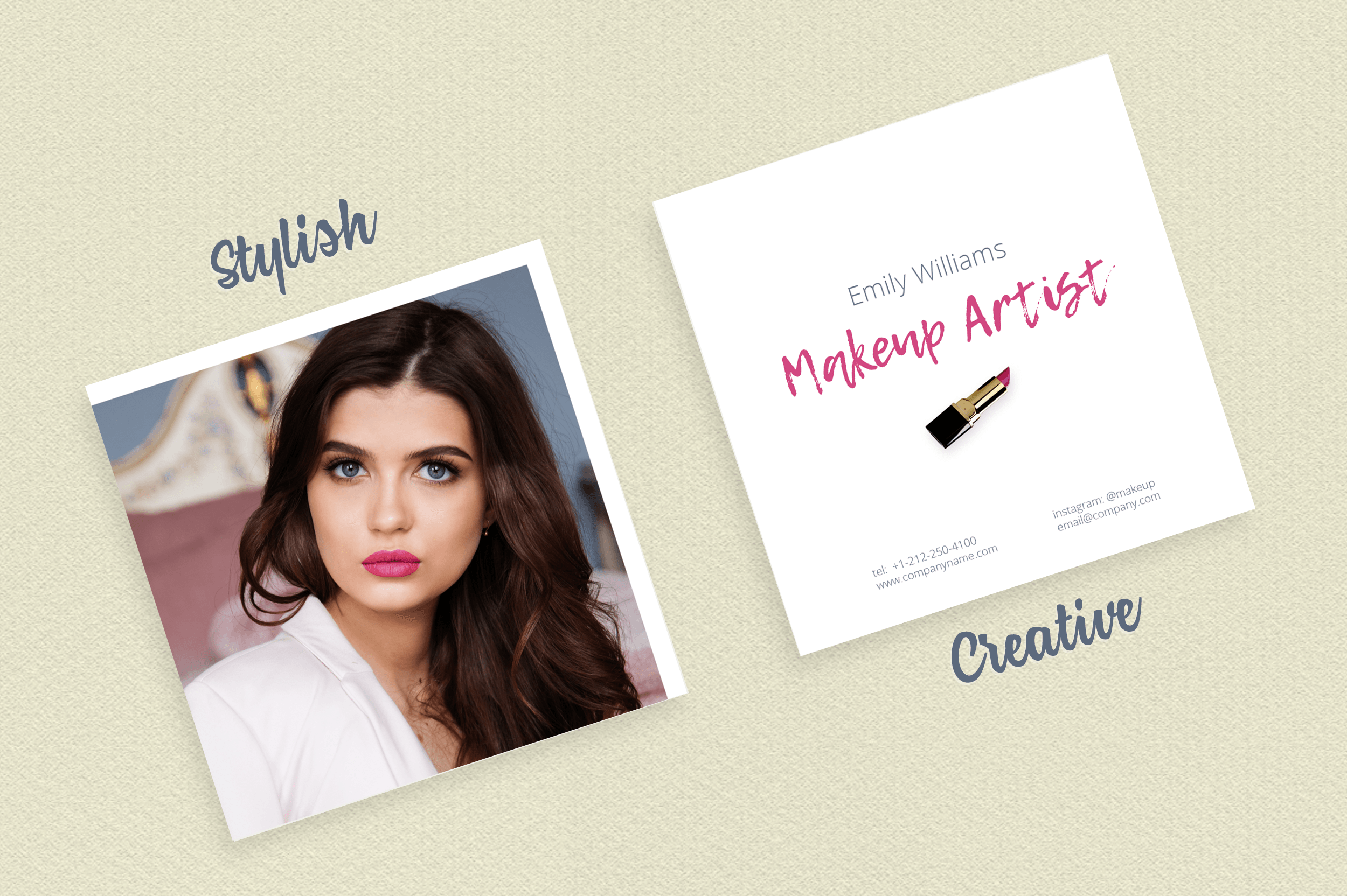 Makeup artist business card template by design bundles makeup artist business card template example image 7 alramifo Image collections