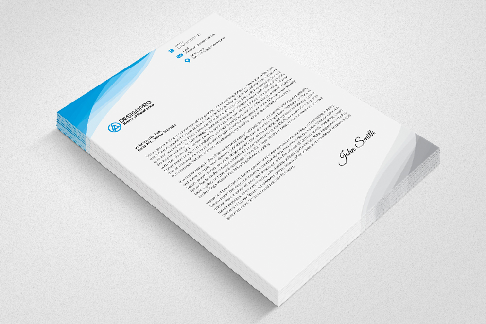 Professional Letterhead Design By Desig  Design Bundles