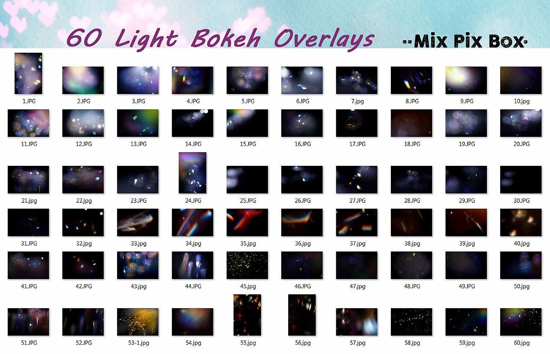 60 Light Bokeh Overlays example image 5
