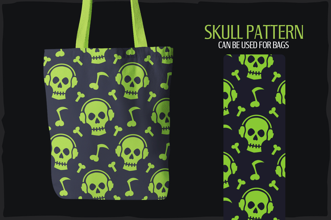 20 Skull Seamless Vector Patterns example image 5