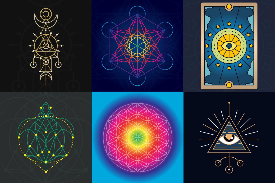 100 Sacred Geometry Symbols  example image 32