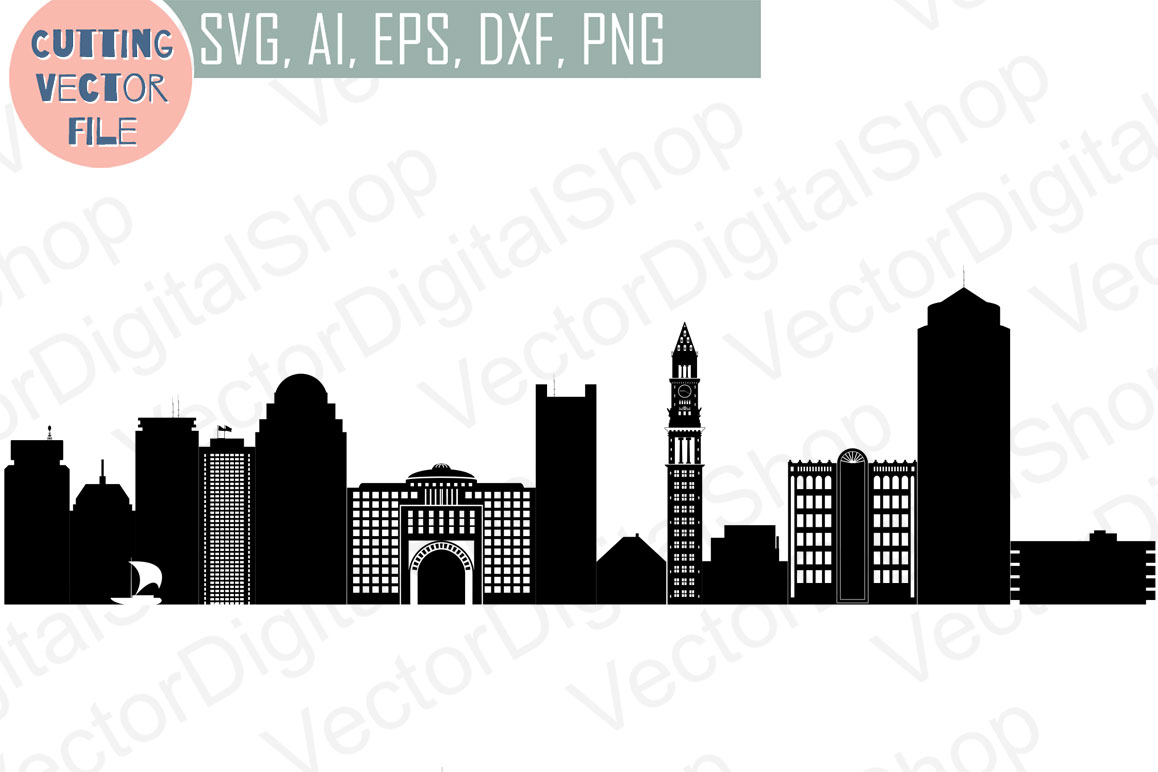 boston skyline vector massachusetts us design bundles rh designbundles net boston skyline outline vector boston skyline outline vector