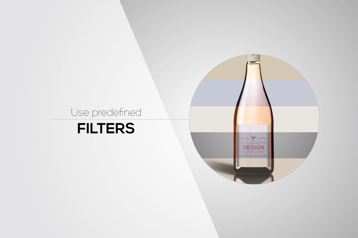 All-In-One Wine Bottle Mockup example image 5