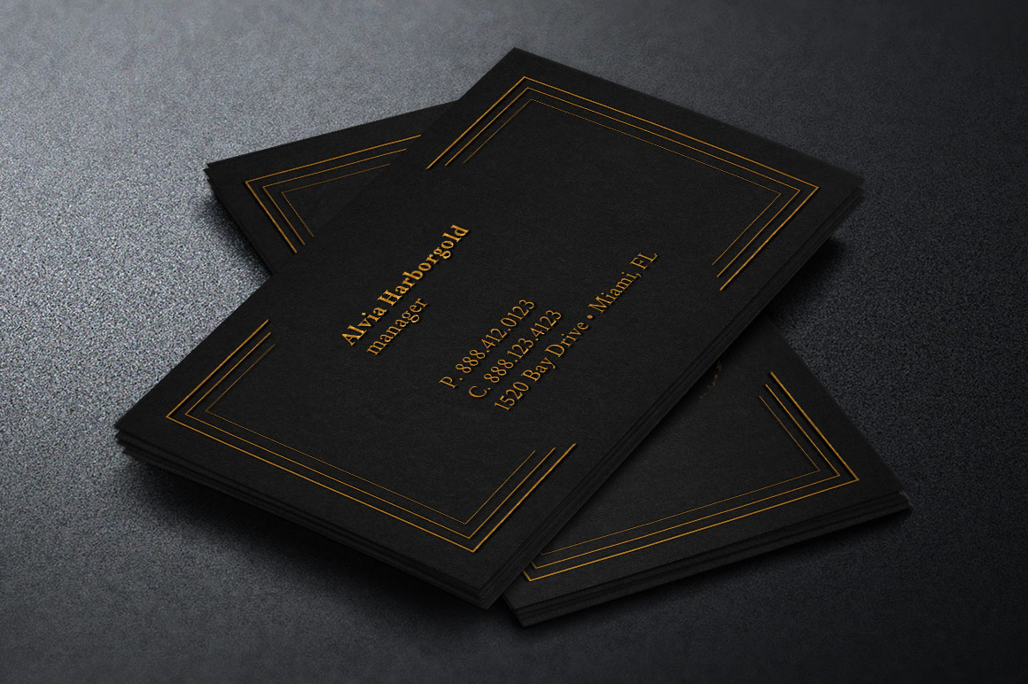 Jewelry Store Business Card Photoshop Template example image 2