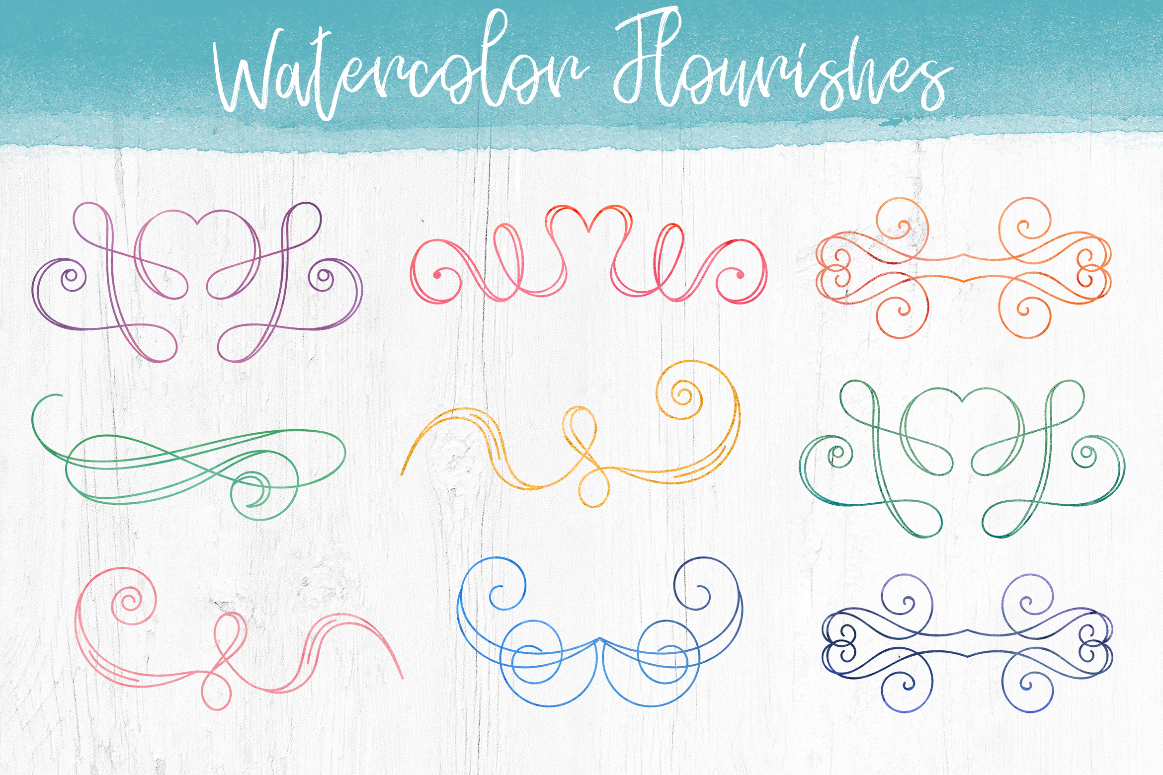 Watercolor Pack. Textures and Logos example image 5