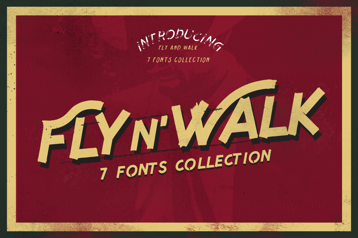 Fly and Walk Typeface example image 2