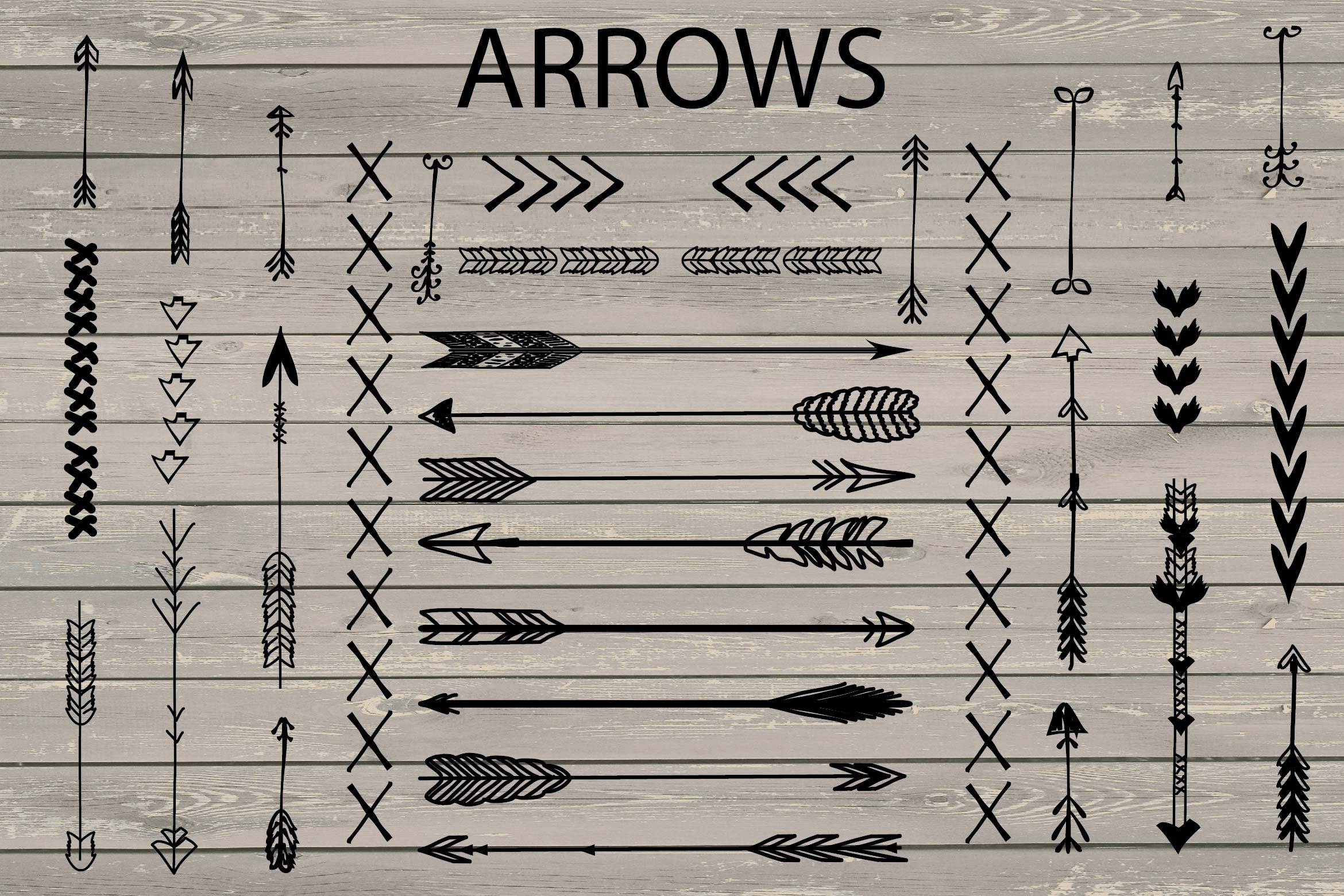 VECTOR Hand Drawn arrows clip arts example image 2