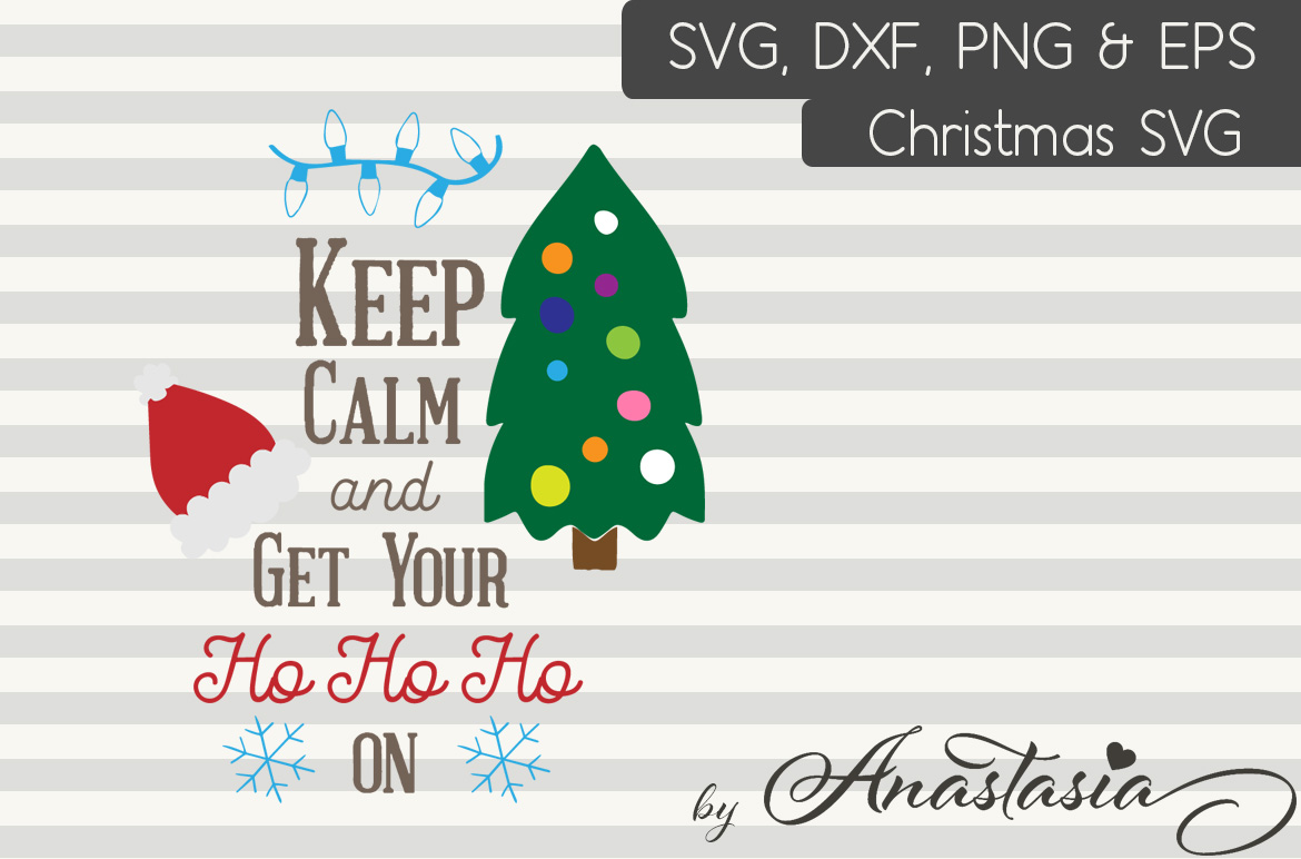 4 Christmas Cutting Files for $3 Only! Sleigh Bells Ring - Merry Christmas - Keep calm and get your Ho Ho Ho on & Christmas Quote example image 3