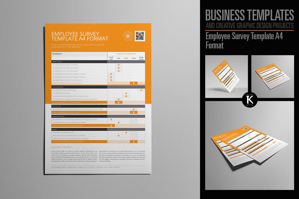 Employee Survey Template A4 Format by K | Design Bundles