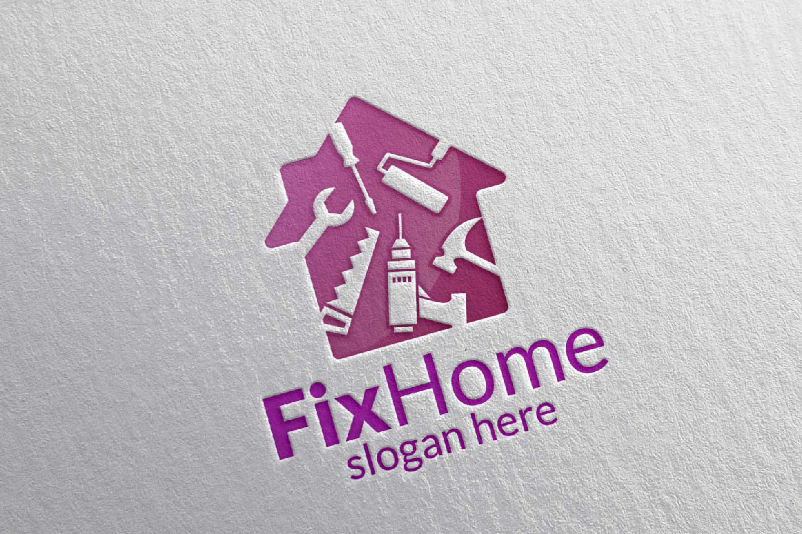 Real estate Logo, Fix Home Vector Logo | Design Bundles