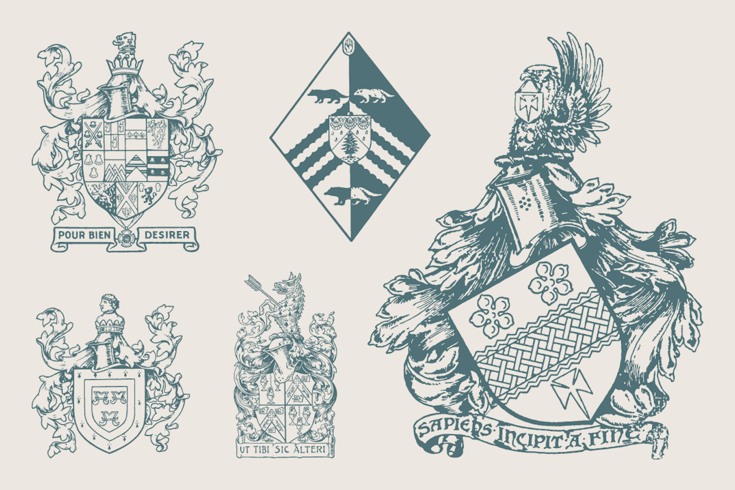 25 Coat Of Arms - Vol.1 example image 2